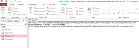 query sql membuat tabel kereta belajar membuat relasi antar tabel dan query pada ms