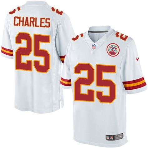 youth chiefs jamaal charles 25 jersey unique p 350 nfl kansas city chiefs limited white road nike jersey 25