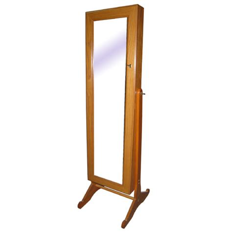 jewelry armoire standing standing jewelry armoire with mirror
