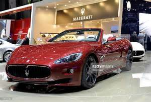 Fiat Auto Spa A Fiat Spa Maserati Gran Cabrio Sport Sits On Display