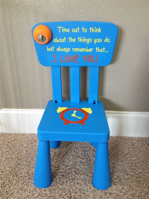 Items similar to personalized time out chair with timer on etsy