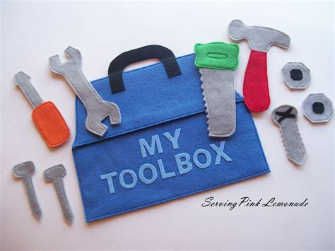 My Toolbox serving pink lemonade felt toolbox