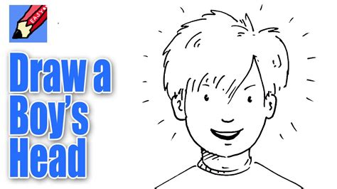 how to draw a boy how to draw a boy s from the front real easy