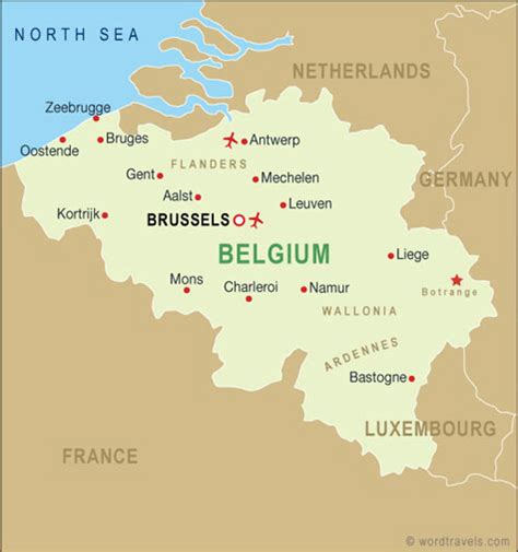 belgica map map of belgium and surrounding countries list of