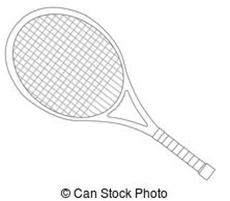 Racket Outline by Tennis Racket Illustrations And Clip 4 359 Tennis Racket Royalty Free Illustrations