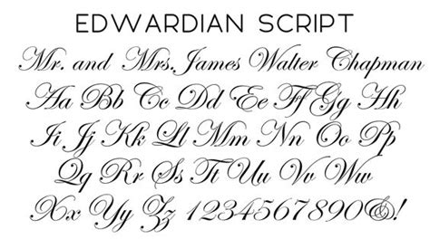 tattoo fonts edwardian script edwardian script font wedding ideas fonts