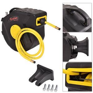 3 8 quot x 50 retractable air compressor hose reel 300 psi auto rewind garage tools ebay