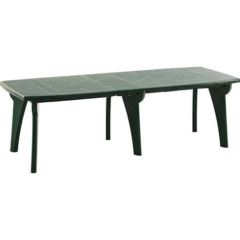 table jardin en table de jardin en r 233 sine verte de 2 50 m trigano store