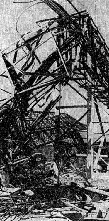 collapsed television tower shoreview mn 1971