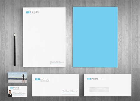 Au Finance Letterhead Robina Logo Design Oasis Financial Planning Website And Letterhead And Stationary Design