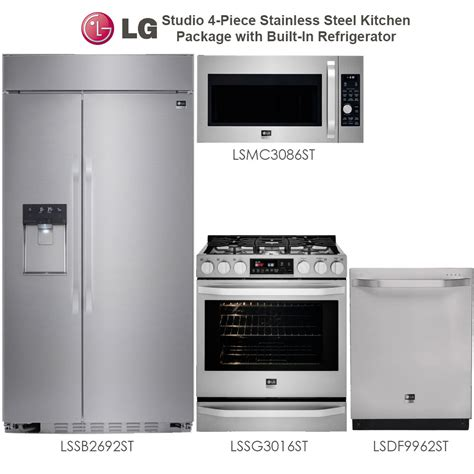 kitchen appliance sets wholesale discount package lg studio 4 stainless steel kitchen