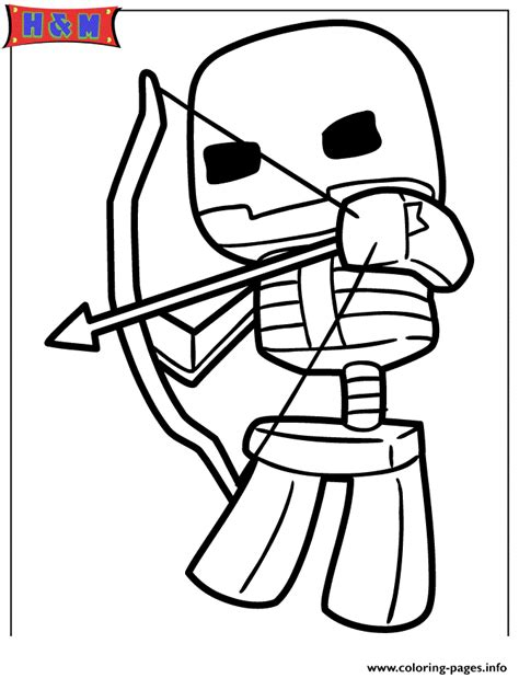 minecraft coloring pages bow and arrow minecraft skeleton shooting bow and arrow coloring pages