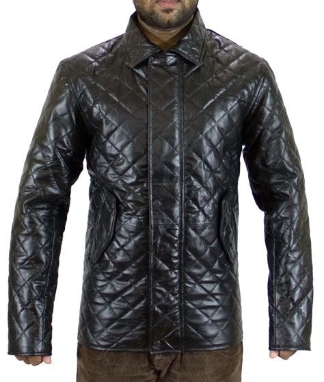 Handmade Leather Jackets - handmade new stylish quilted winter leather jacket