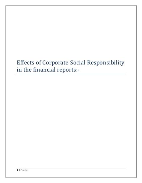 Corporate Social Responsibility Mba Project Report by Corporate Social Responsibility Dissertation Report
