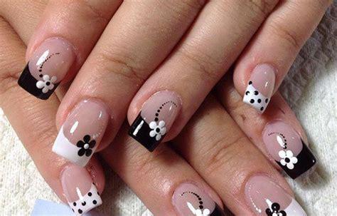 imagenes de uñas pintadas de blanco u 241 as decoradas con flores sencillas de hacer