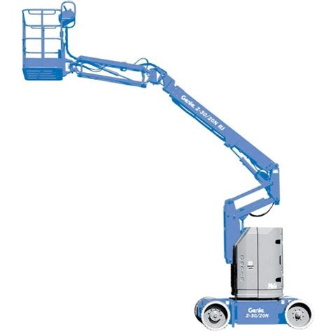 Heating Outdoor Spaces - 30 ft narrow electric articulating boom lift kinnunen