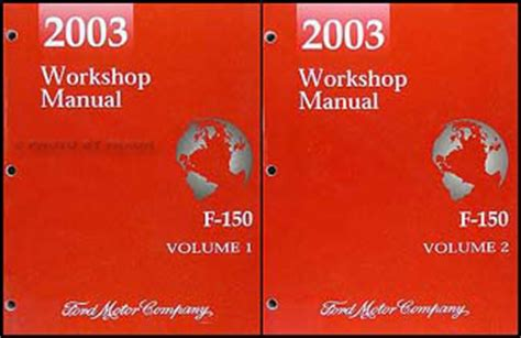 2003 ford f 150 repair shop manual original 2 volume set