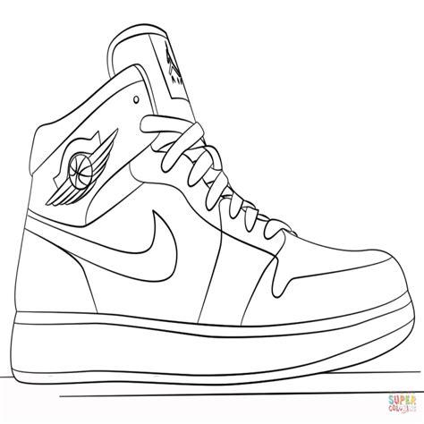 imagenes de unas zapatillas para dibujar zapatillas jordan dibujo