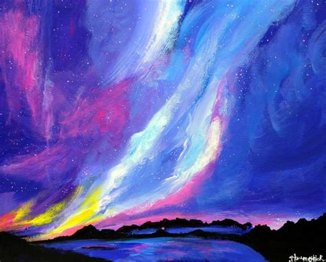 acrylic painting northern lights 1000 images about northern lights on acrylics