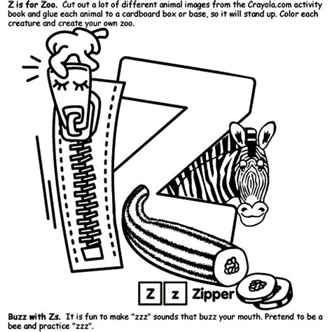 Alphabet Z Coloring Page Crayola Com A To Z Coloring Pages