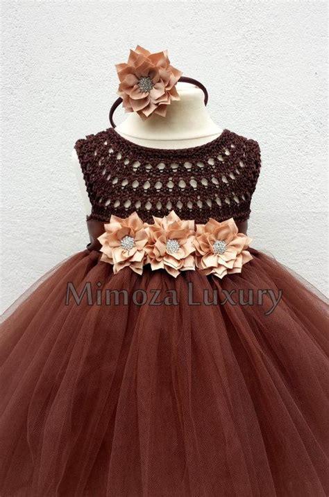 Brown Flower Girl Dress Tutu Dress, Bridesmaid Dress