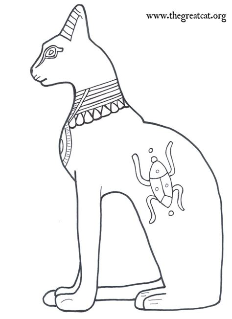 Drawn cat egyptian animal - Pencil and in color drawn cat ... Free Clipart Of Siamese Cats