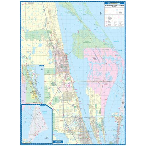 volusia county section 8 brevard county fl north wall map keith map service inc