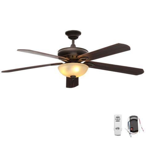 rubbed bronze ceiling fan light kit hton bay asbury 60 in indoor rubbed bronze ceiling
