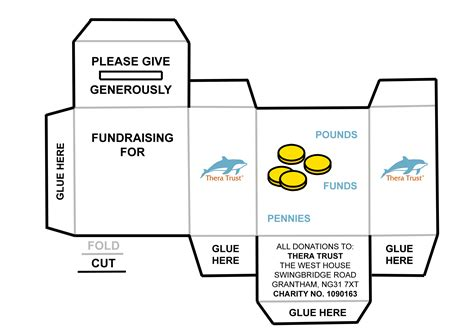 Card Money Box Template by Community Fundraising Thera Trust