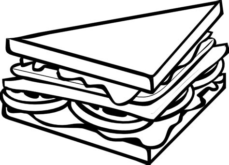 Black And White Cliparts black and white sandwich clipart kid cliparting