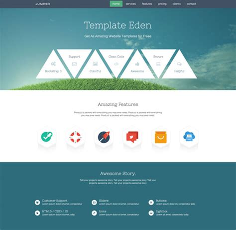 10 amazing one page parallax scrolling website templates