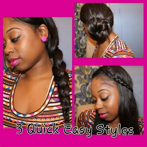 cute hairstyles you can do with weave 3 quick easy hair styles w your sew in or upart youtube
