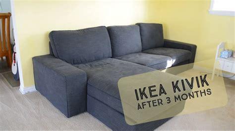 sofa ikea hemlingby our ikea kivik after 3 months youtube