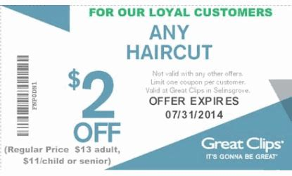 prices at great clips for seniors coupons for great clips haircuts image collections