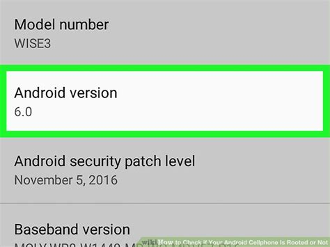 check android version how to check if your android cellphone is rooted or not 7 steps