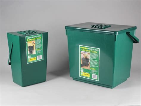 jumbo odourless kitchen compost caddy 30l home composting