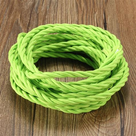 5m vintage colored diy twist braided fabric flex cable