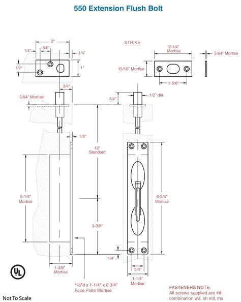 rockwood templates rockwood 550 wide lever extension flush bolt