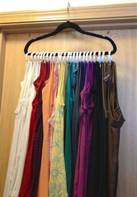 apartment closet tank tops ideas about make a closet on 53 insanely clever bedroom storage hacks and solutions