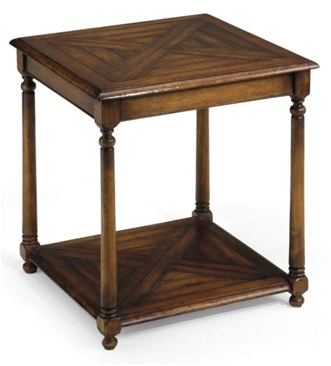 library office furniture walnut end table with antique