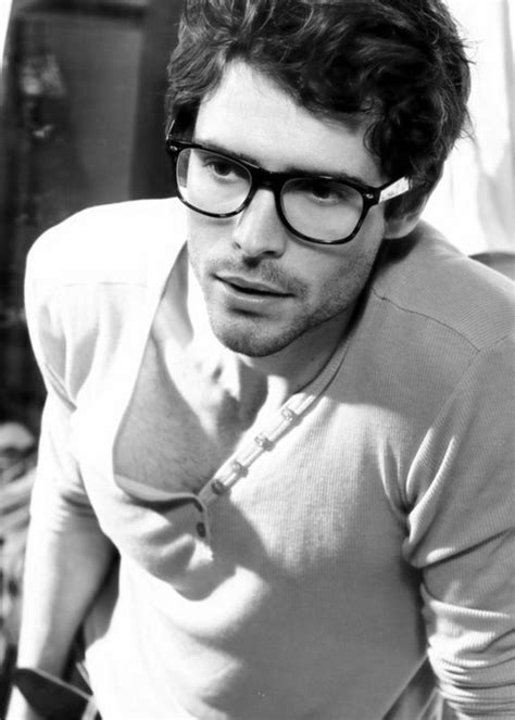 hot guys with nerd glasses beard black and white boy cute glasses image 341852