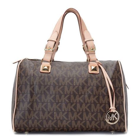 Michael Kors Grayson Large 9 michael kors grayson signature pvc medium satchel brown products description brown mk
