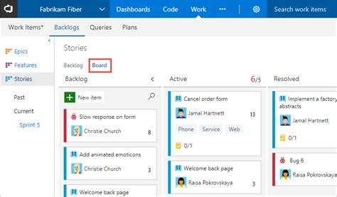 Understand And Configure Your Kanban Board Vsts Tfs Microsoft Docs Tfs Kanban Process Template