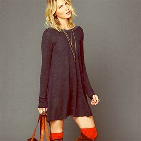 free people long sleeve swing dress 64 off free people dresses skirts free people long