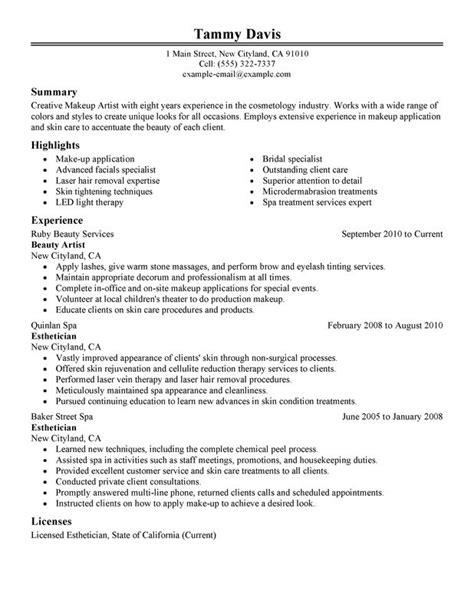 12 Sample Esthetician Resume 2016   SampleBusinessResume