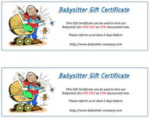 Babysitting Gift Voucher Template by Free Babysitting Coupon Template Memes
