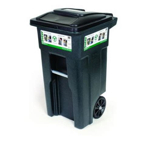 toter 32 gal wheeled trash can cart 025532 01grs the