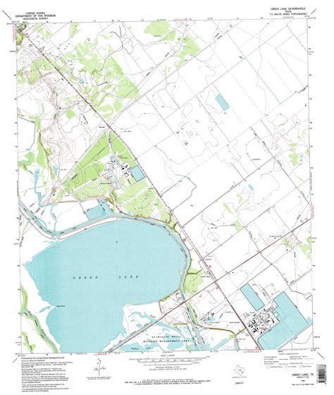 lake map of texas green lake topographic map tx usgs topo 28096e7