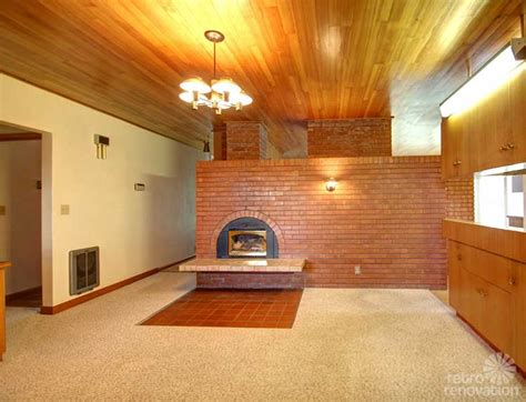 mid century fireplace 1 200 s f midcentury modern farm house time capsule