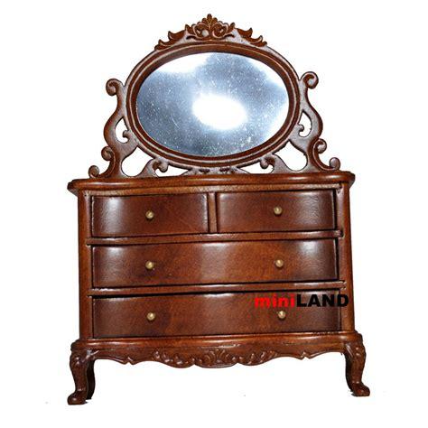 bedroom vanity table with drawers vanity table dresser bedroom 1 12 dollhouse miniature drawers mirror wood wn